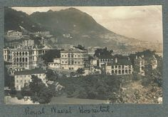 OLD HONGKONG PHOTO ROYAL NAVAL HOSPITAL HONG KONG  POSTCARD SIZE VINTAGE 1920S