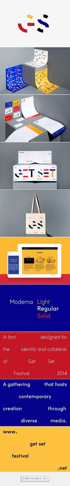 Identité visuelle / Affiches Get Set festival 2014 Epiforma  Typographie morcelée/modulaire (Moderna)