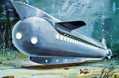 underwater hotel and cruise ship from the 1950s (a Russian concept)