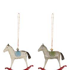 Maileg Metal Rocking Horse Ornament