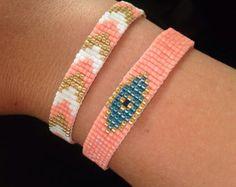 Pulsera tejida Azteca. por LYCKAjewelry en Etsy