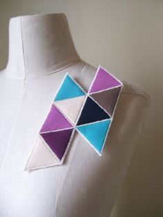abstract art fabric brooch pin by cristinapires on Etsy, €15.00