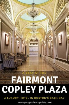 Staying at the Fairmont Copley Plaza Hotel in the heart of Boston's Back Bay. Usa Travel Guide, Travel Usa, Travel Tips, Travel Ideas, North America Destinations, Travel Destinations, Fairmont Copley, United States Travel