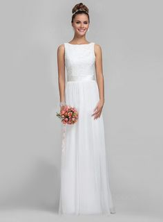 newbridalup.com SUPPLIES Simple Style Dress Lace Bodice A Line Floor Length Simple Wedding Dresses