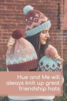 Knitting 3 toques using Lion Brand Hue + Me yarn. Every color of this yarn has been designed to complement every other color in the Hue + Me line. Check out the free pattern and how it knits up with Hue + Me and its characteristics. #Lionbrand #Lionbrandyarn #Yarn #Yarnaddict #Knittingtutorials Knit Crochet, Crochet Hats, Fair Isle Pattern, Lion Brand Yarn, Diamond Pattern, Wool Yarn, Color Show, Yarns, Knits