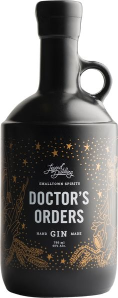 Doctor's Orders Gin - Legend Distilling on the Naramata Bench. (Gin Bottle Design)