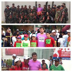Con el Grupo SAR y otros participantes de la Carrera 10k Cemento El Puente que contó con el apoyo de 800 voluntarios.