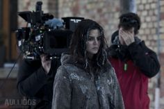 Actress Clara Lago on the set of Welcome to Harmony