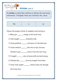 Resume: Pleasant English Grammar Worksheets For Grade 4 Articles With Grade 3 Grammar Topic 34 Articles Worksheets Lets Share Knowledge of English Grammar Worksheets for Grade 4 Articles Worksheets For Grade 3, English Worksheets For Kids, Verb Worksheets, Reading Comprehension Worksheets, English Lessons, Learn English, Grade 2 English, English Class, Article Grammar