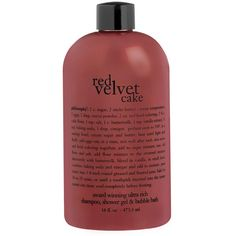 philosophy 'red velvet cake' shampoo, shower gel bubble bath (120 BRL) ❤ liked on Polyvore featuring beauty products, bath & body products, body cleansers, beauty, fillers, philosophy, fragrance and bubble bath