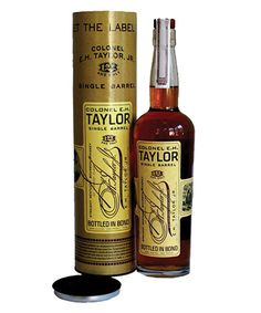 Colonel E H Taylor Jr Single Barrel Bourbon. It takes a bit of oxygen for the bottle to open up. Once it does though, it becomes a great, neat sipper. Bourbon Whiskey Brands, Scotch Whiskey, Whisky, Wheated Bourbon, Single Barrel Bourbon, The Distillers, Best Bourbons, Wine And Liquor, Bottle Lights