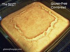 Simple Gluten-free Corn Bread is still the most popular recipe at GlutenFreeGigi.com!