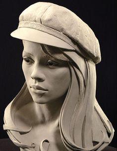Artist: Philippe Faraut #portraits #clay #sculpture #art
