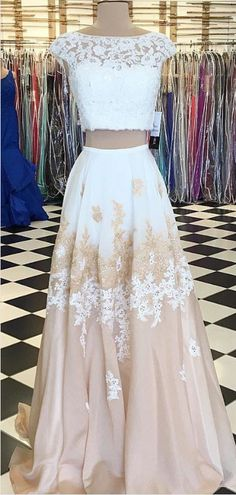 Long Two Pieces Prom Dress with Appliques Lace #prom #promdress #dress #eveningdress #evening #fashion #love #shopping #art #dress #women #mermaid #SEXY #SexyGirl #PromDresses