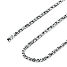 Besteel Jewelry 4MM Mens Womens Stainless Steel Wheat Necklace Chain Link 16-36 Inch >>> Check out this great product.