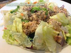 Salad with Salmon and Chia Seeds