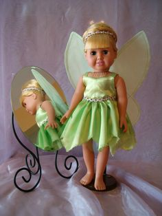 """Fairy costume for 18"""" doll"""