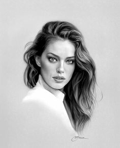 Portrait Au Crayon, Pencil Portrait Drawing, Realistic Pencil Drawings, Portrait Sketches, Pencil Art, Drawing Art, Art Drawings, Hyperrealistic Drawing, Rockabilly Art