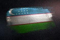 Uzbekistan Flag, Card Holder, Metal, Wall, Catalog, Painting, Stickers, Rolodex, Painting Art