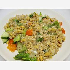 Compassionate Cooking: Crunchy Quinoa Salad Quinoa Salad, Vegan Recipes Easy, Fried Rice, Fries, Cooking, Ethnic Recipes, Food, Easy Vegan Recipes, Kitchen