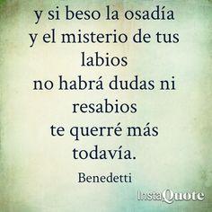Buenos días :) #benedetti #benedettifrases #bookslovers #books #libros #agobiodeprisa  Benedetti pronto en #lavideoteca ;)