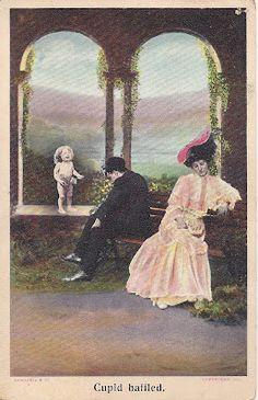 Vintage Valentine Series #5: 1908 Cupid Baffled.