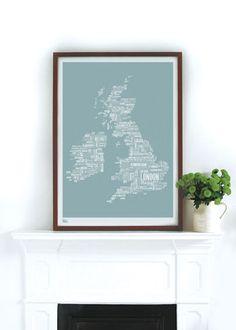 map-print-england