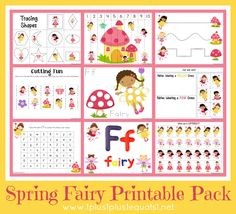 Spring Fairy Printables with links to more printable packs!!!!!!