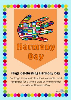 Harmony Day Flags - An amazing activity that produces a brilliantly colourful creative display of students culture and heritage. Great activity when discussing and encouraging tolerance and cultural diversity.