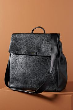 James Leather Diaper Backpack by Storksak in Black, Kids at Anthropologie Leather Diaper Bags, Black Diaper Bag, Leather Backpack, Leather Bag, Diaper Bag Backpack, Convertible Diaper Bag, Baby Gear, 5 D, Purses
