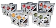 Wild Zora Beef & Veggie Bars - Grain-Free, Gluten-Free, Soy-Free, and Nut-Free. Meats are Grass-Fed and Free-Range, with no added hormones, antibiotics, or nitrites. Contains certified organic fruits and veggies.