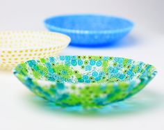 Glass bowls by Carlo Moretti. Sheer beauty.