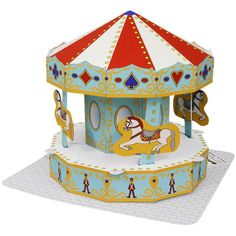Amusement Park(Merry-go-round),Toys,Paper Craft,amusement park,town,town