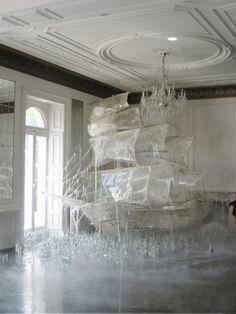 Ice ship sculpture created set designer and art director Rhea Thierstein / Shot by Tim Walker Tim Walker, Snow Sculptures, Art Sculpture, Sculpture Images, Metal Sculptures, Instalation Art, Ice Art, Foto Fashion, Fashion Art