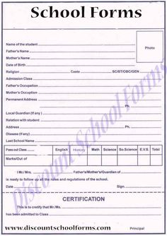 Print Your School Forms With Discount School Forms! Get Your ...