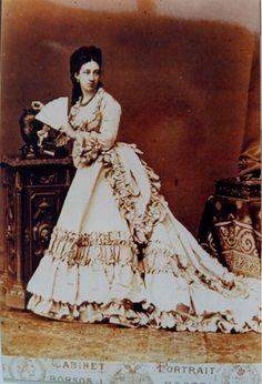 Countess Wenckheim Krisztina (1849-1924) circa 1872