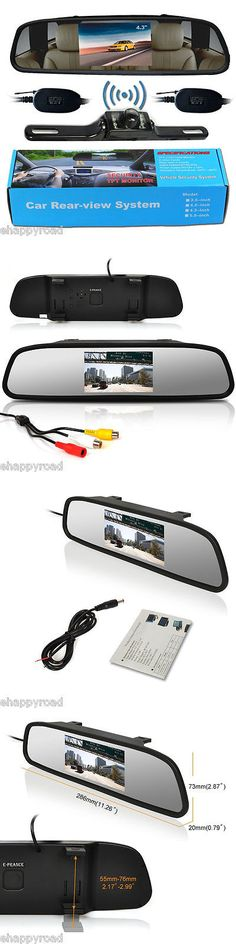 Rear View Monitors Cams and Kits: 4.3 Car Tft Lcd Monitor Mirror+Wireless Reverse Car Rear View Backup Camera Kit -> BUY IT NOW ONLY: $35.99 on eBay!