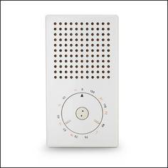 Braun T3 pocket radio (Dieter Rams, 1958)