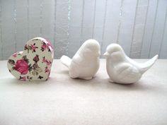 Casal de passarinhos - Topo de bolo