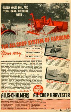 1938 Allis Chalmers AC All Crop Harvester Farm Tractor Magazine Ad   eBay