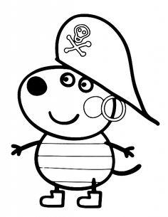 Amico di Peppa Pig vestito da pirata disegno da colorare gratis