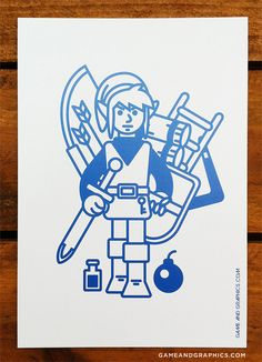 BLUE and white Link