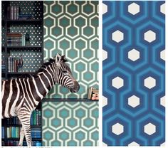 Cole and Son - Hicks Hexagon and Hicks Grand available at walnut wallpaper #wallpaper