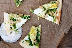 Artichoke and Spinach Pizza with White Beans 10 in 20: Spring Veggie ...