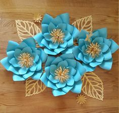 Papel de pared flores fondo de flor de papel por PoshPaperDesignss
