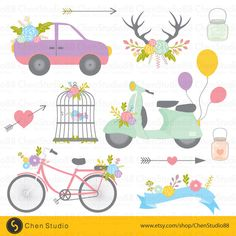Rustic wedding vector - Digital Clipart - Instant Download - EPS, PNG files included - FREE Small Commercial Use by ChenStudio88 on Etsy https://www.etsy.com/listing/240920701/rustic-wedding-vector-digital-clipart