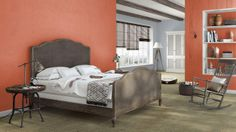 I created this Rustic Country bedroom using Design By What Matters by Benjamin Moore. What's your design personality? #BenjaminMoore #DBWM #DreamDigsSweeps