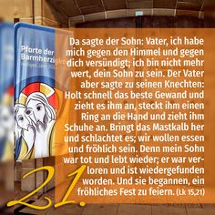 Zitat zum Advent aus der Bibel Lk 15, 21 Kirchentüre: St Eberhard Stuttgart in Baden-Württemberg