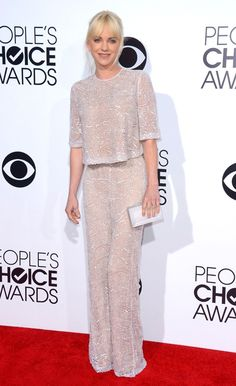 People's Choice Awards 2014  Anna Faris' glitzy trouser suit may be our favourite outfit of the evening – but would you choose this for your bridal look?