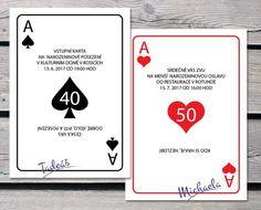 hrací karty - pozvánka Presents, Humor, Funny, Handmade, Gifts, Hand Made, Humour, Funny Photos, Funny Parenting